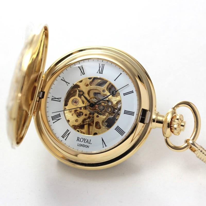 ROYAL LONDON(ロイヤルロンドン) スケルトン懐中時計 90009-01