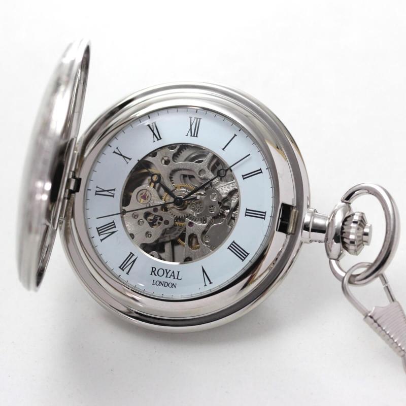 ROYAL LONDON(ロイヤルロンドン) スケルトン懐中時計 90009-02