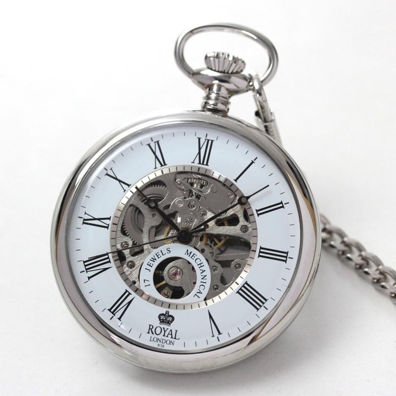 ROYAL LONDON(ロイヤルロンドン) スケルトン懐中時計 90049-01