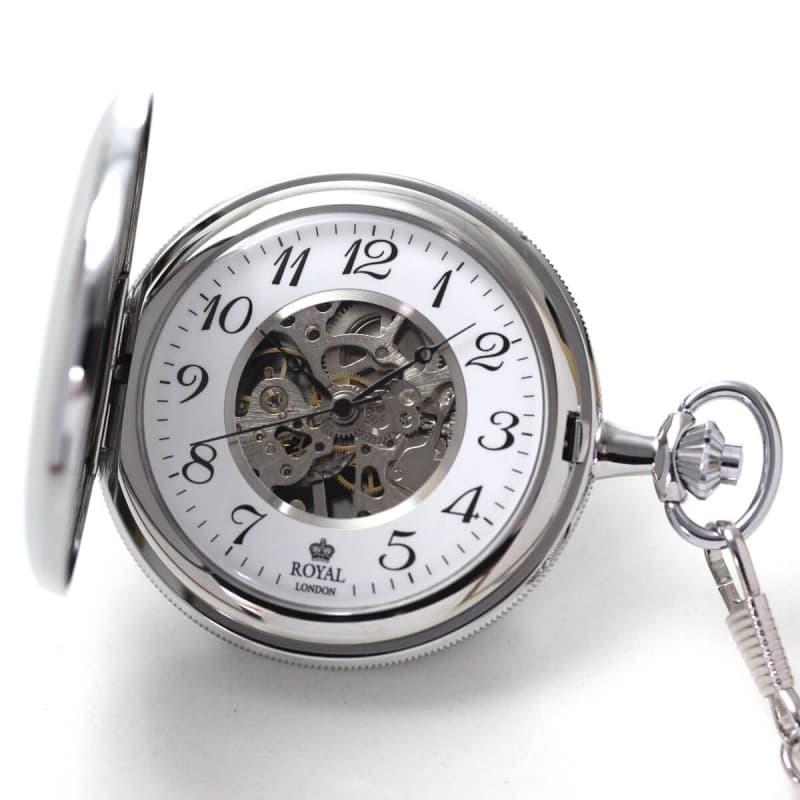 ROYAL LONDON(ロイヤルロンドン) スケルトン懐中時計 90004-02