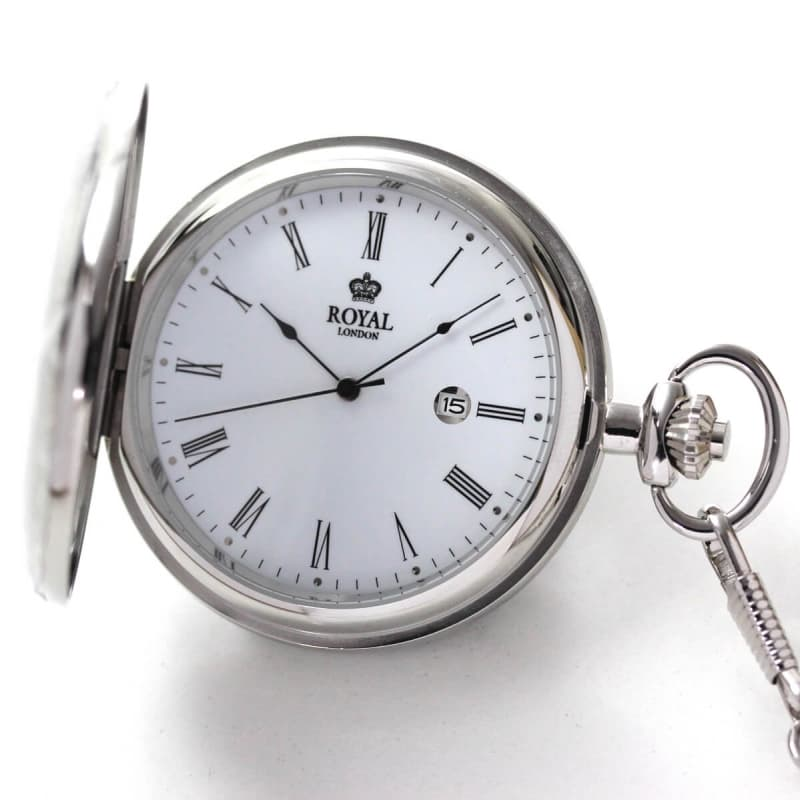 ROYAL LONDON(ロイヤルロンドン) 蓋付きクォーツ(電池式)懐中時計 90001-01