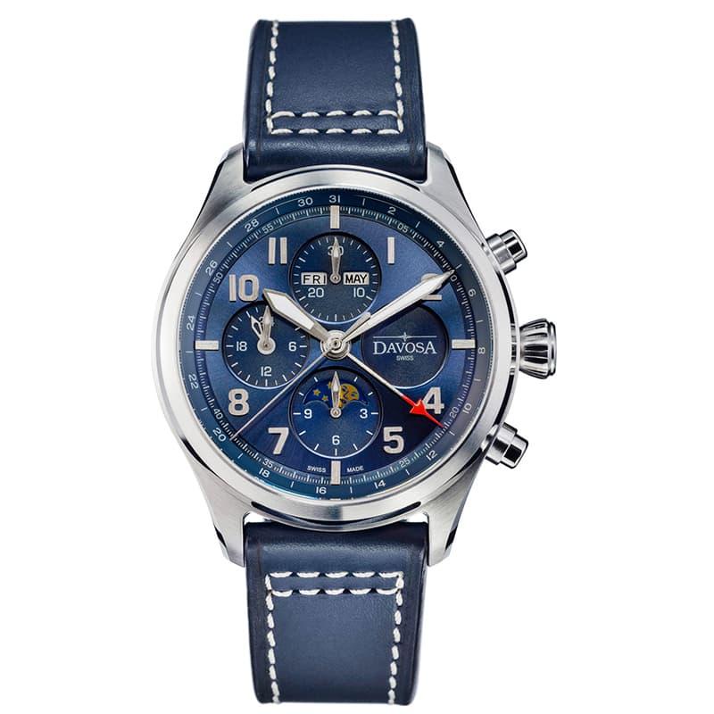 DAVOSA(ダボサ) ニュートンパイロット クロノグラフ 161.586.45 世界300本限定 ブルー 腕時計