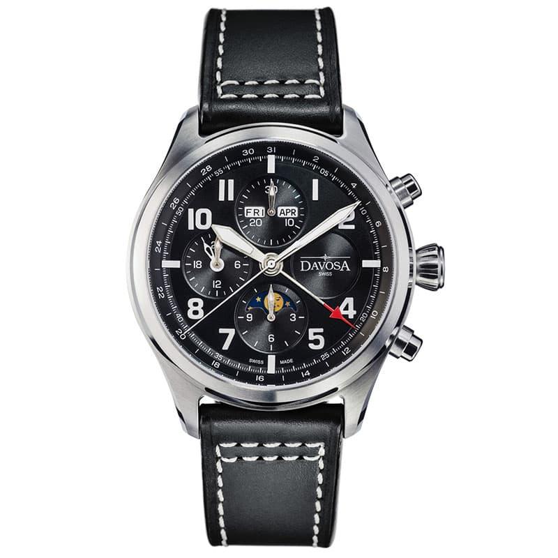 DAVOSA(ダボサ) ニュートンパイロット クロノグラフ 161.586.55 世界300本限定 ブラック 腕時計