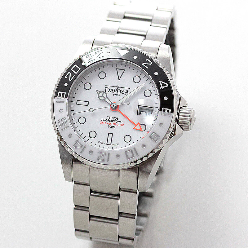 DAVOSA(ダボサ) Ternos GMT Pro(テルノス プロ)/自動巻き/GMTプロ ブラック&ホワイト/世界限定500本/メンズ/ 161.571.15 腕時計