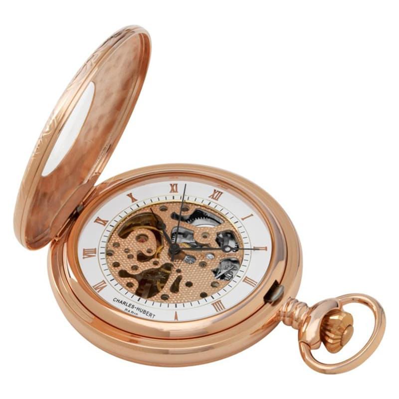 チャールズヒューバート(Charles-Hubert) 懐中時計 手巻き式 3806 ローズゴールド