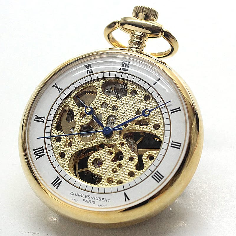 チャールズヒューバート(Charles-Hubert) 懐中時計 手巻き式 3802 ゴールドカラー
