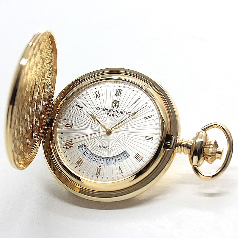 チャールズヒューバート(Charles-Hubert) 懐中時計 クォーツ 3900-G