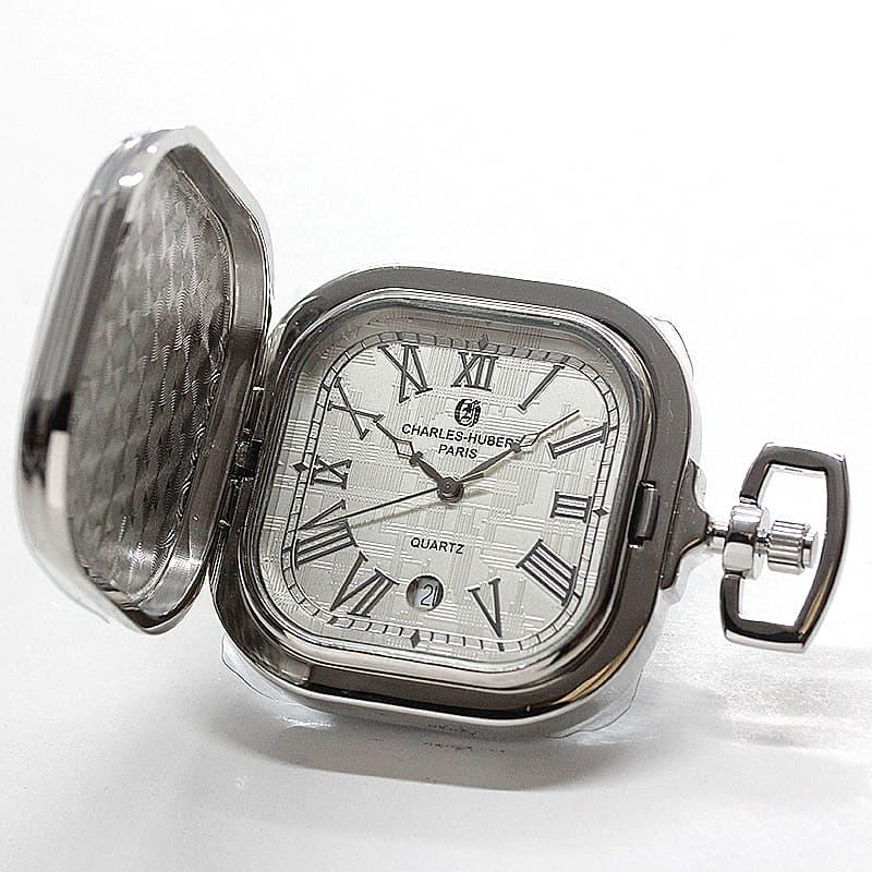 チャールズヒューバート(Charles-Hubert) 懐中時計 クォーツ式 スクエア 3555