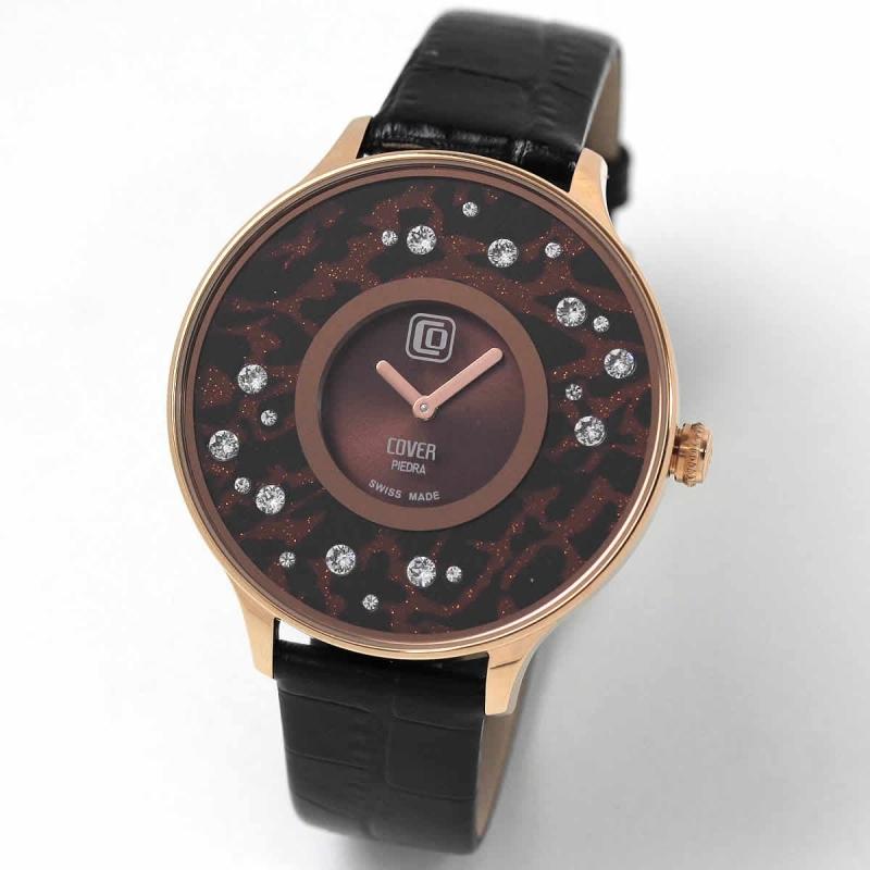 COVER(コヴァー) TREND PIEDRA STARS Co158.11 ブラウン 女性用腕時計