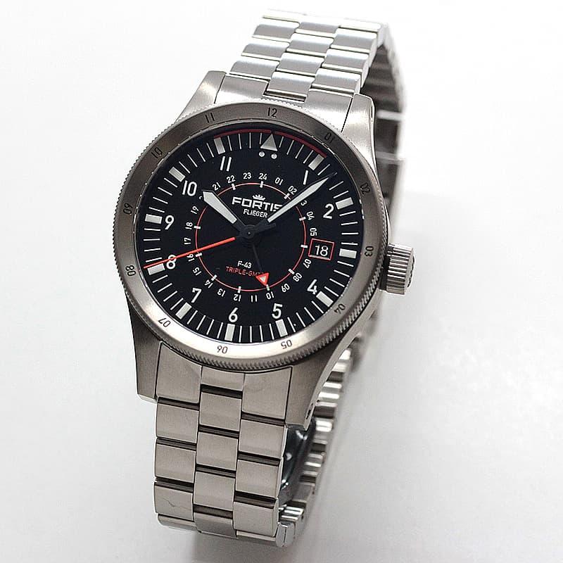 フォルティス(FORTIS)フリーガー F-43 トリプルGMT(Triple GMT) F.426.0000 腕時計