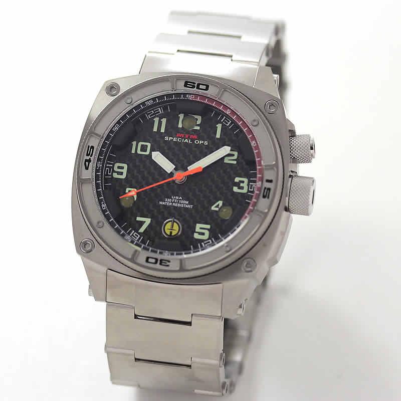 MTM スペシャルOPS ファルコン シルバー FAL-TSL-BKCB-MBTI チタニウム腕時計