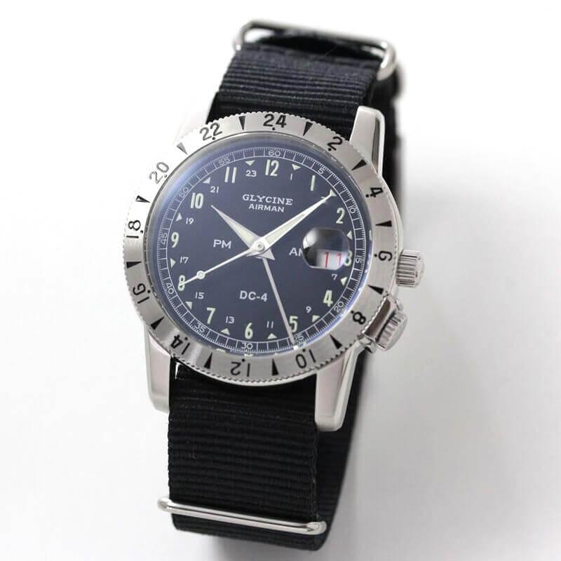 GLYCINE(グリシン) AIRMAN(エアマン) DC4 GL0071 自動巻き GMT 腕時計