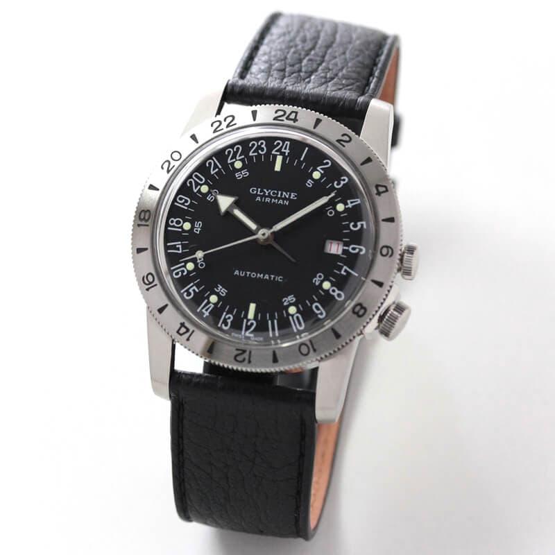 【世界限定1000本】GLYCINE(グリシン) AIRMAN(エアマン) 40 NO1 GL0163 自動巻き 腕時計