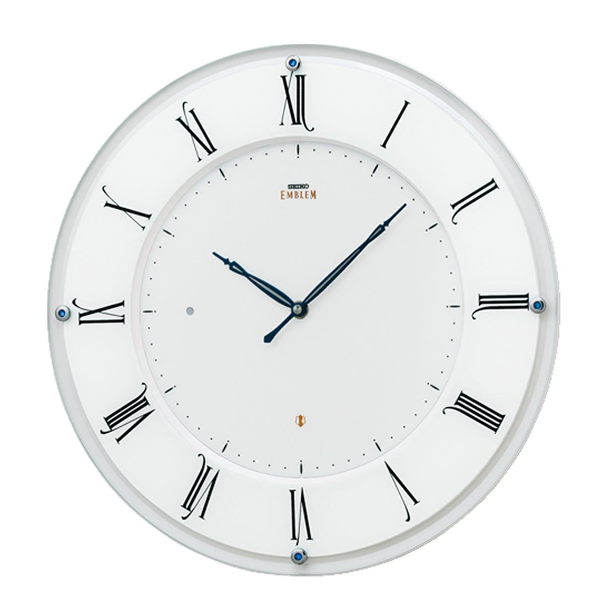SEIKO EMBLEM(セイコー エムブレム)薄型電波掛け時計 HS548W 白【グリーン購入法適応商品】