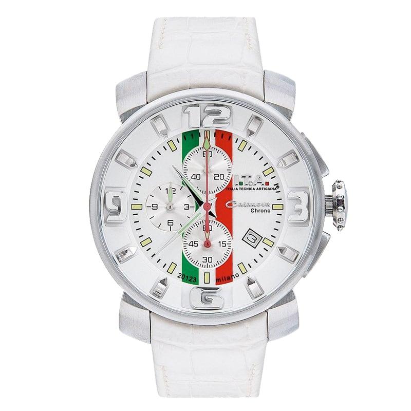 I.T.A.(アイティーエー)/カサノバ・クロノ トリコローレ/日本限定モデル/ホワイト/ 12.70.24 腕時計