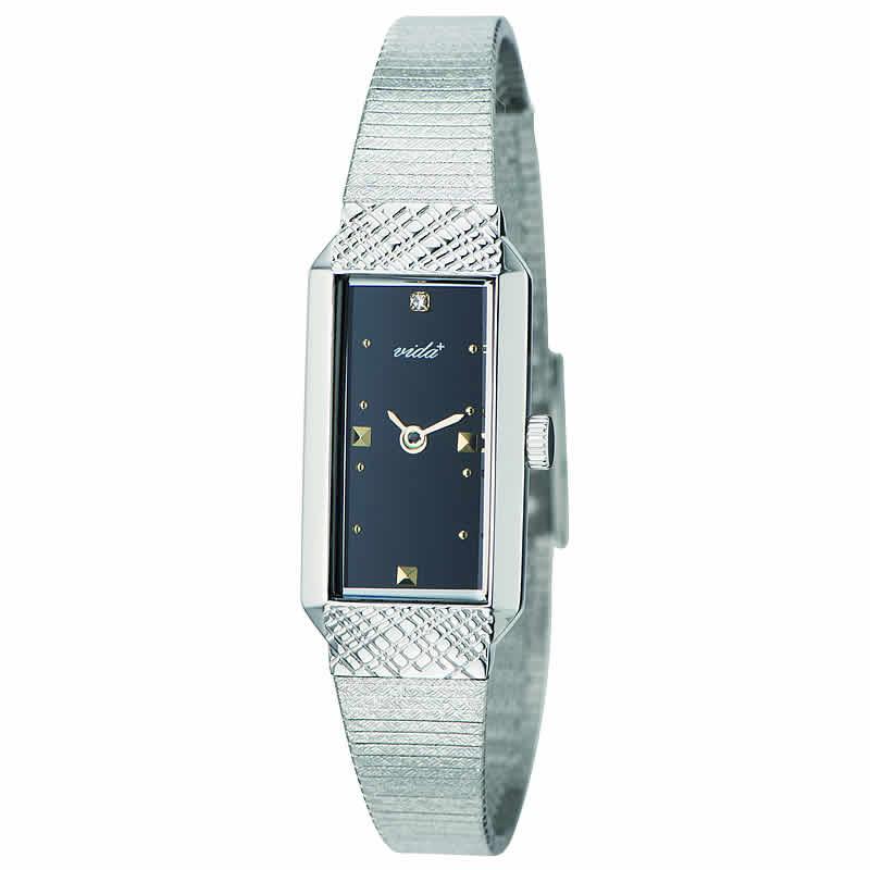 VIDA+レクタンギュラー女性用 レディース J83900 SV BK 腕時計
