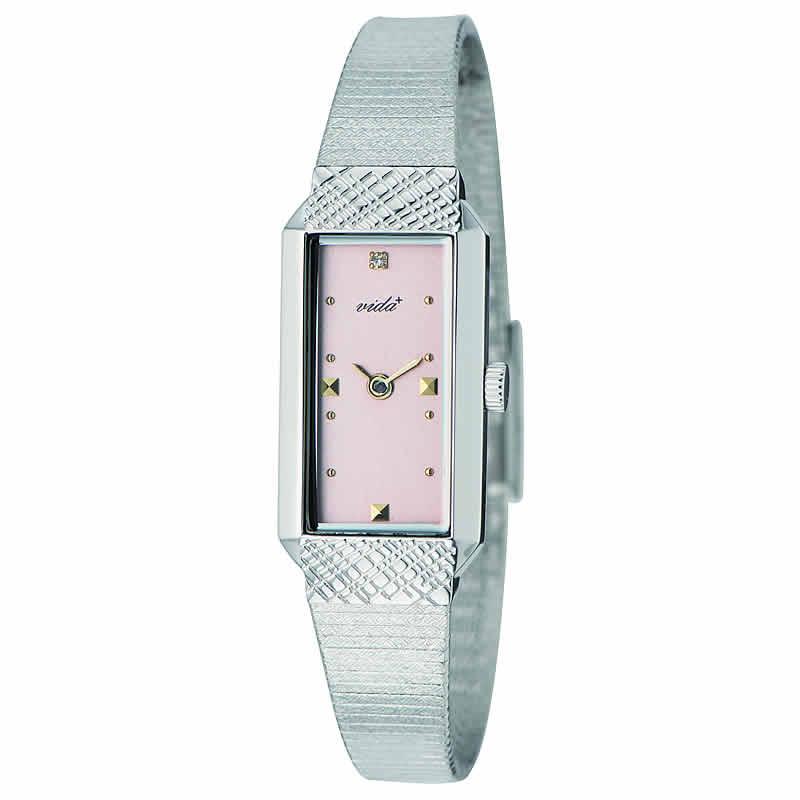 VIDA+レクタンギュラー女性用 レディース J83902 SV PK 腕時計