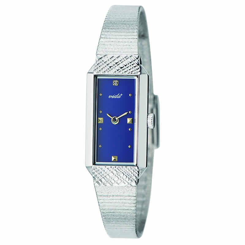 VIDA+レクタンギュラー女性用 レディース J83903 SV NV 腕時計