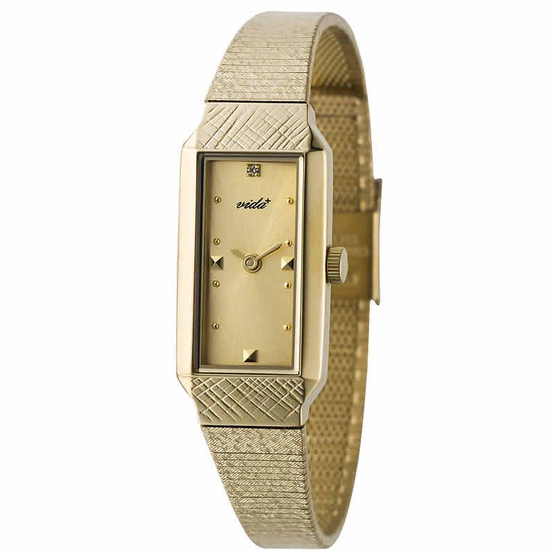 VIDA+レクタンギュラー女性用 レディース J83907 GD 腕時計