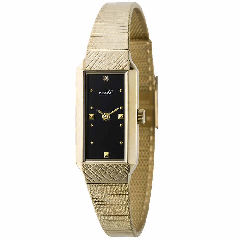 VIDA+レクタンギュラー女性用 レディース J83908 BK 腕時計