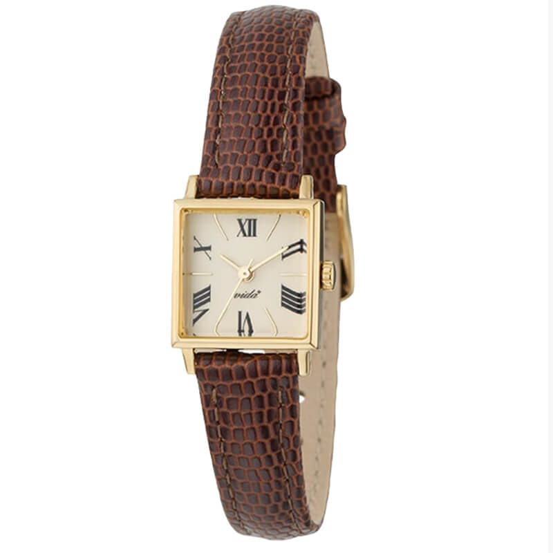 VIDA+ Orderly ブラウンベルトカラー レディース J84969G LE-BR 腕時計