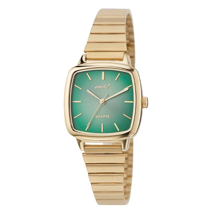 VIDA+ Radial(ラディアル)J86010 GLD GRN ゴールド-グリーン レディース 腕時計