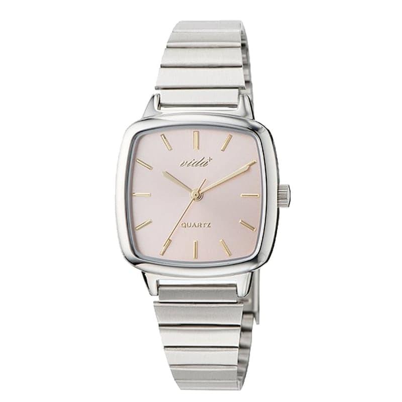 VIDA+ Radial(ラディアル)J86014 SLV PNK シルバー-ピンク レディース 腕時計