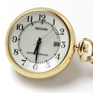 シチズン レグノ ソーラー電波 懐中時計  KL7-922-31 ゴールドカラー