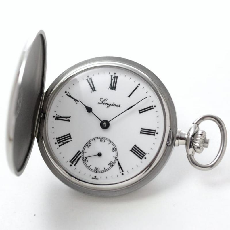 シンプルながら存在感のあるロンジンハンターケース懐中時計