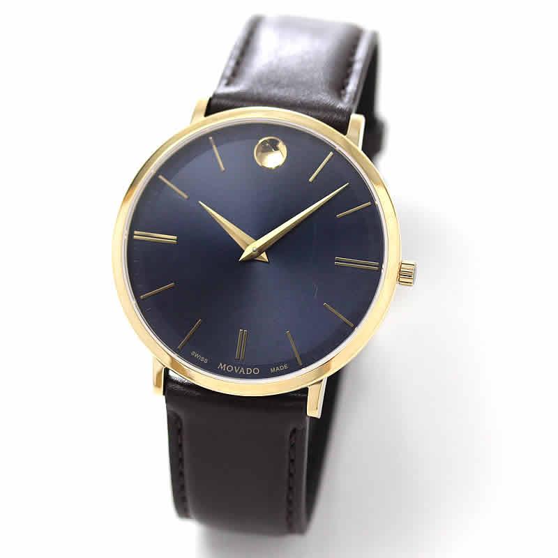 在庫セール 1点限り 27,600円OFF! MOVADO(モバード)ULTRA SLIM ウルトラスリム イエローゴールド M0607088.8307l メンズ/腕時計