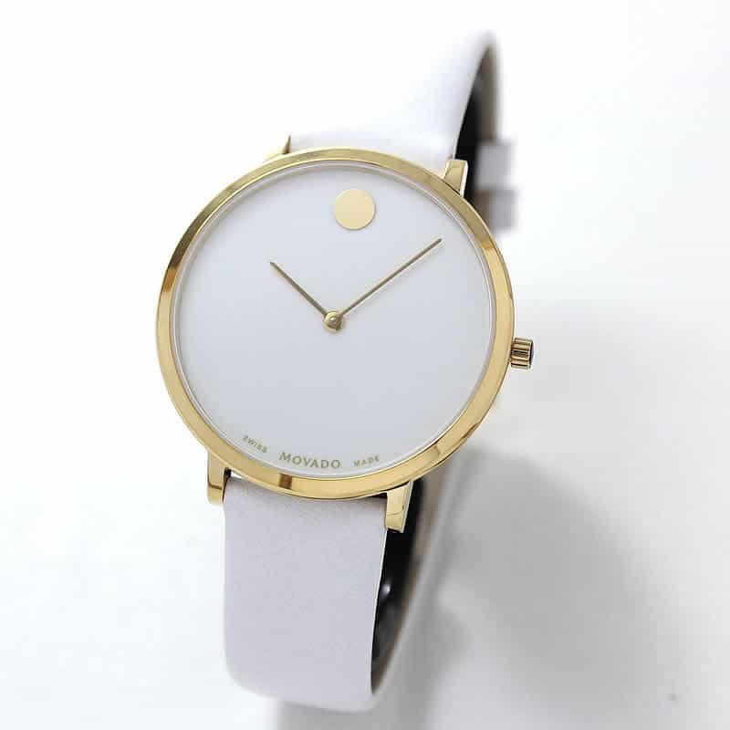 MOVADO(モバード)ミュージアム70周年アニバーサリーエディション クォーツ M0607138.8301L レディース イエローゴールド 腕時計