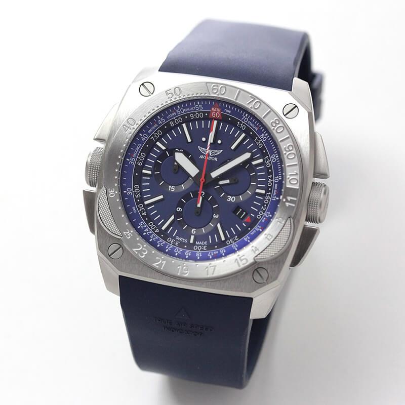 AVIATOR(アビエイター) MIG-29 SMT CHRONO(ミグ29 SMTクロノ)  クォーツ パイロットウォッチ M.2.30.0.220.6 ブルー 腕時計