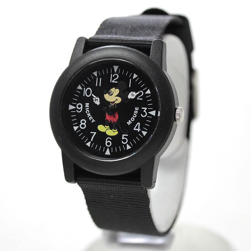 Disney(ディズニー)TAPE WATCH MLY-BLK オールドミッキー 腕時計 ブラック