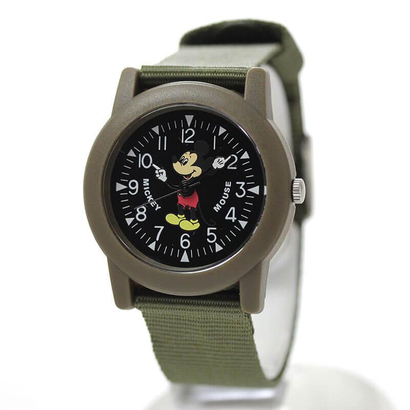 Disney(ディズニー)TAPE WATCH MLY-KHA オールドミッキー 腕時計 カーキ