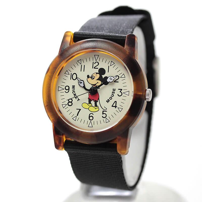Disney(ディズニー)TAPE WATCH MLY-TOR オールドミッキー 腕時計 べっ甲