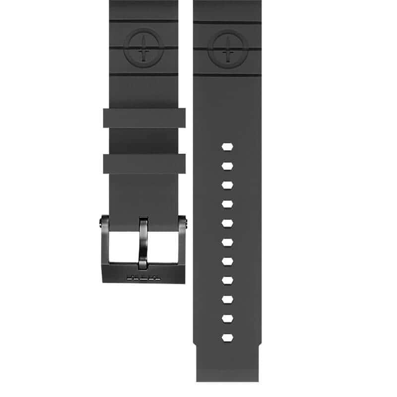 MTM時計/専用 ラバーベルト ブラック  ロゴあり 単品