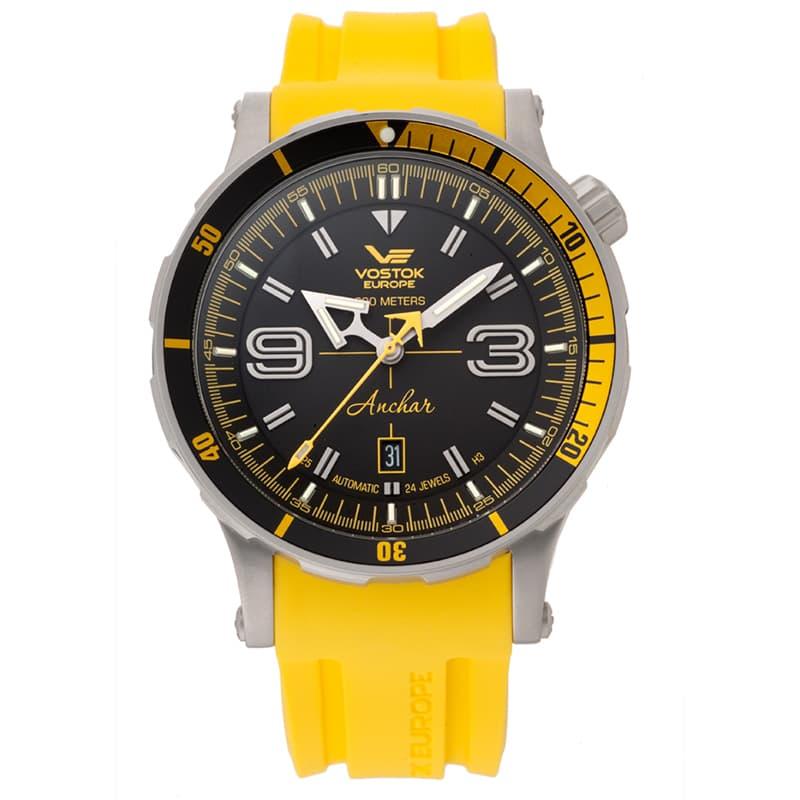 ボストーク・ヨーロッパ アンチャール世界限定モデル/手巻き機能あり/NH35A-510A522Y イエローラバーベルト 腕時計