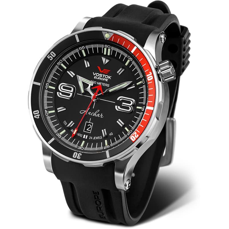 ボストーク・ヨーロッパ アンチャール世界限定モデル/手巻き機能あり/NH35A-510A587 ブラックラバーベルト 腕時計
