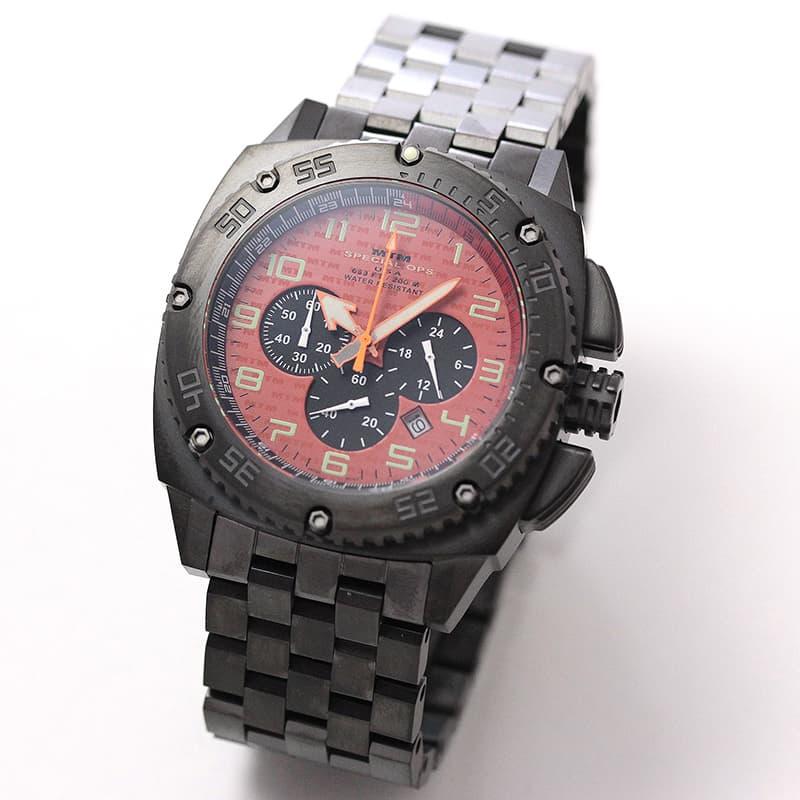 MTM エムティーエム パトリオット(PATRIOT)Black Tit オレンジダイヤル PAT-TBK-ORNG-MBTI 腕時計