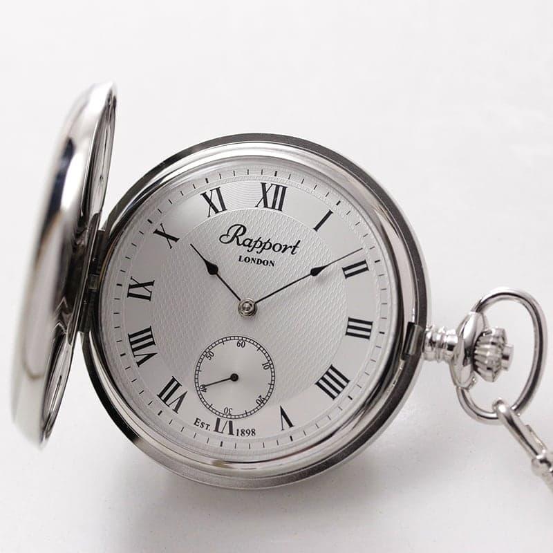 Rapport(ラポート) 手巻き式 フルハンター 懐中時計 シルバーカラー PW21
