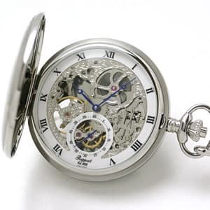ラポート/Rapport/両開き スケルトンPW45 懐中時計