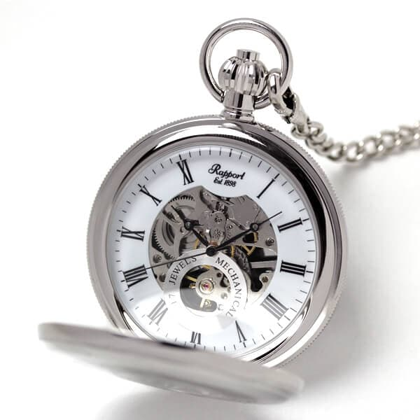 ラポート/Rapport/両開き スケルトンPW49 懐中時計