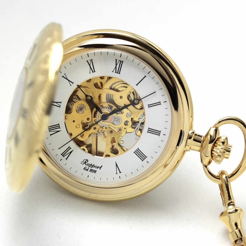 ラポート/デミハンター/スケルトン/【PW56】/懐中時計