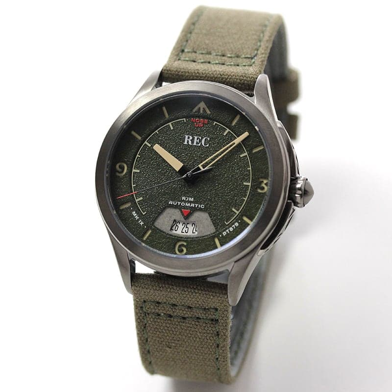 REC(レック)/The RJM   自動巻き PT879 MK IX スピットファイア航空機 RJM-03 グリーン 腕時計