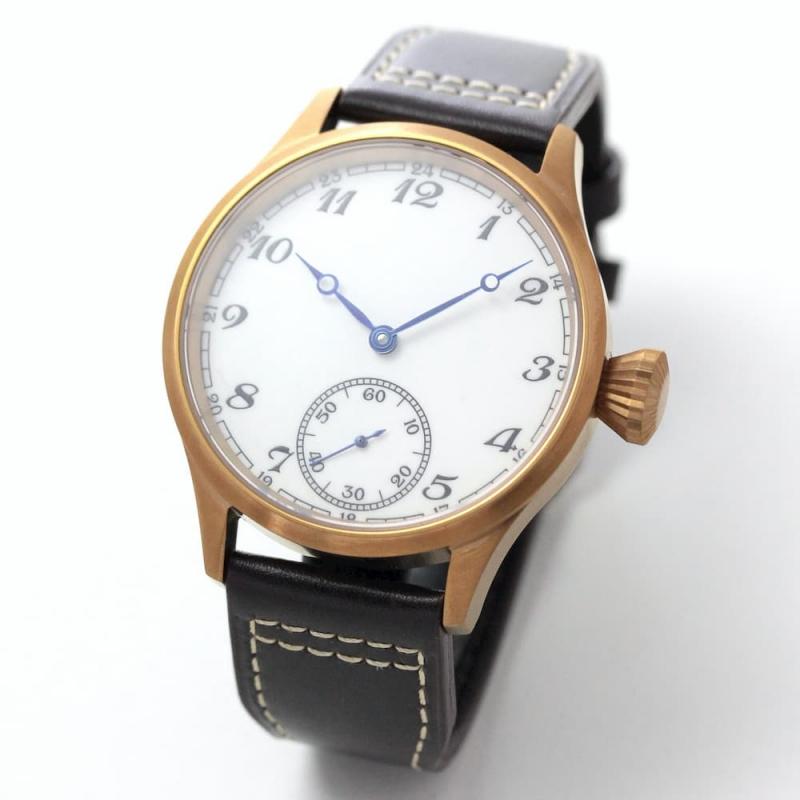 正美堂創業50周年記念ウォッチ/オリジナル腕時計/クラシック文字盤/スイス製ETA6498手巻き式ムーブメント