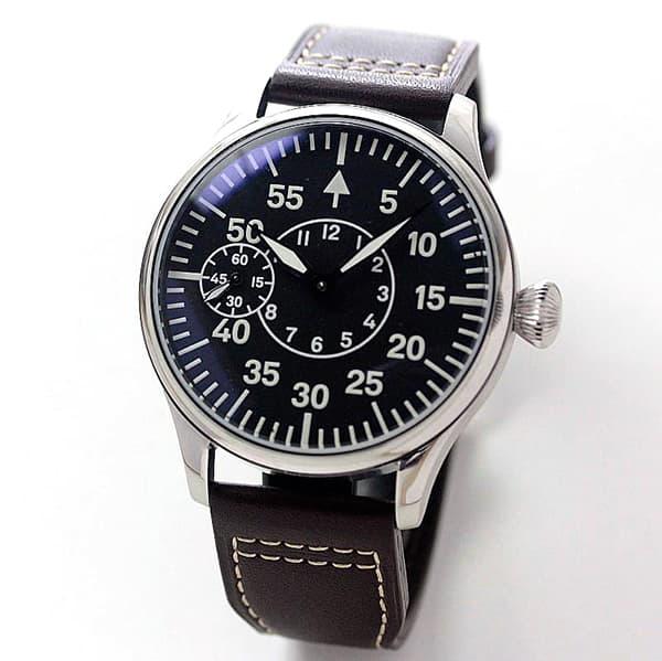 正美堂創業50周年記念ウォッチ/オリジナル腕時計/ミリタリー文字盤/スイス製ETA6497手巻き式ムーブメント