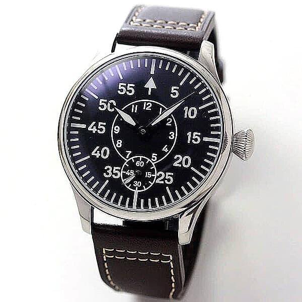 正美堂創業 50周年記念ウォッチ/オリジナル腕時計/ミリタリー文字盤/スイス製 ETA6498手巻き式ムーブメント