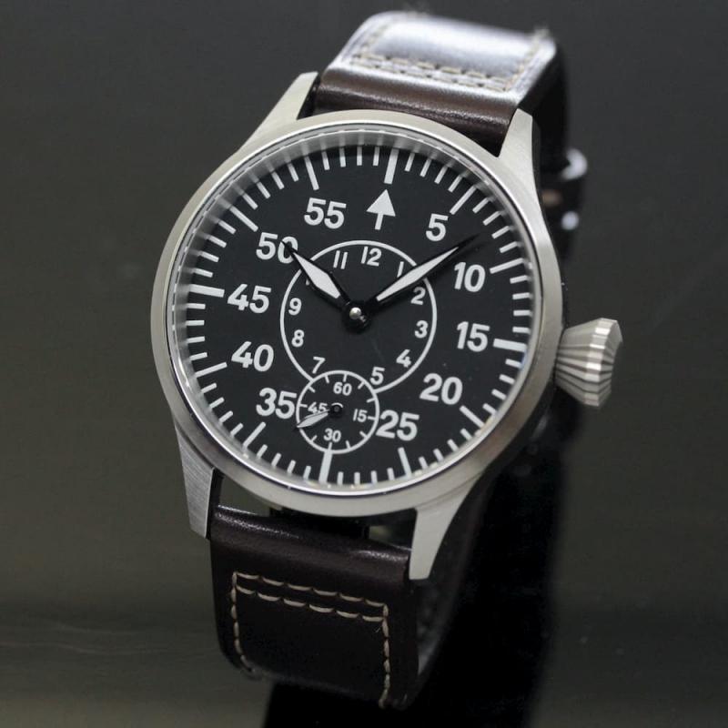 正美堂オリジナル腕時計/ミリタリー文字盤/スイス製 ETA6498手巻き式ムーブメント/サファイアガラス仕様