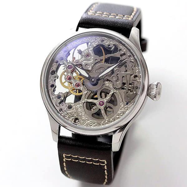正美堂創業50周年記念ウォッチ/オリジナル腕時計/両面スケルトンモデル