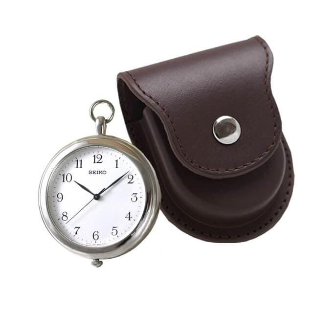 セイコー(SEIKO)懐中時計 SAPP001と正美堂オリジナル革ケース(ブラウン) セット /懐中時計
